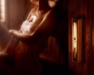Sauna sandur med led lys
