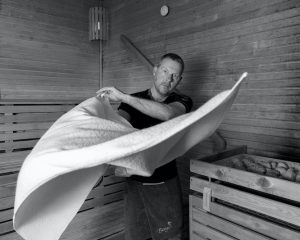 Saunagus vifte håndklæde