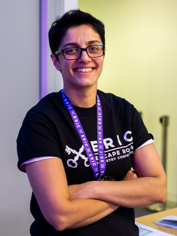 A member of staff at the Escape Room Industry Conference event