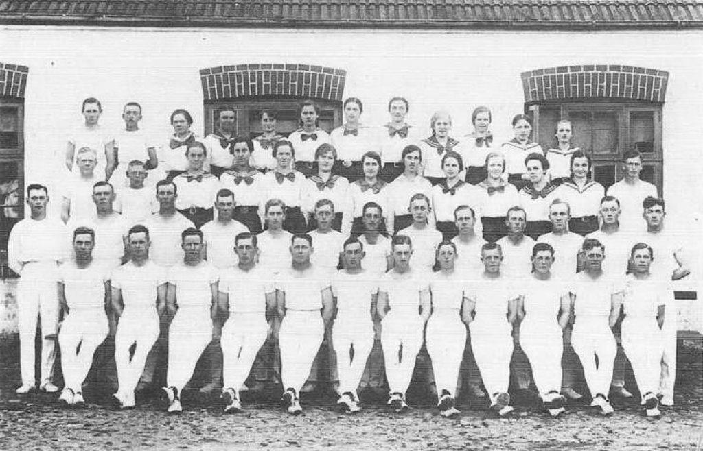 Gymnastikhold sommeren 1918