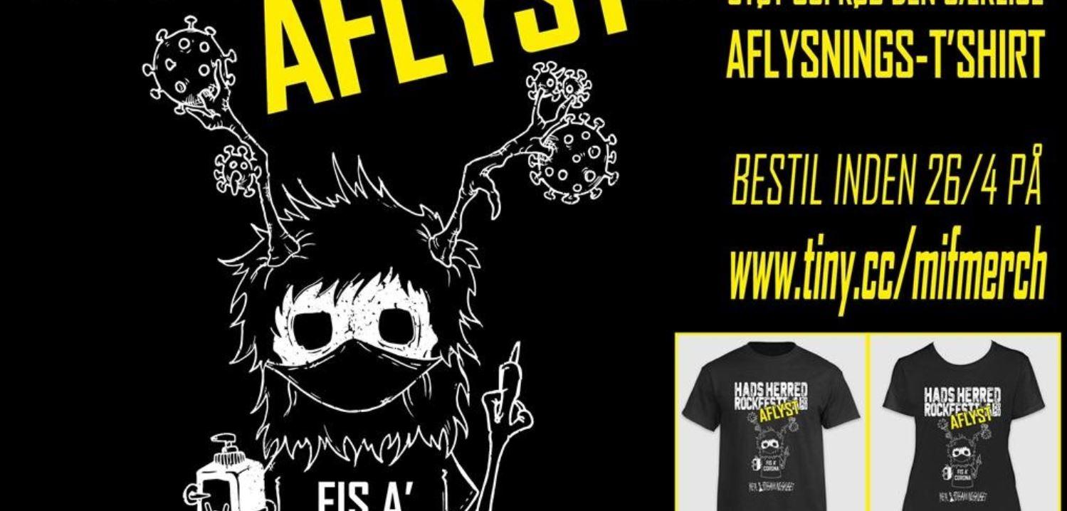 Rockfestival sælger tshirts trods aflysning