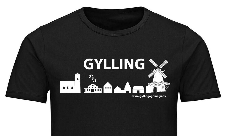 Støtte t-shirt til fordel for Gyllings foreninger