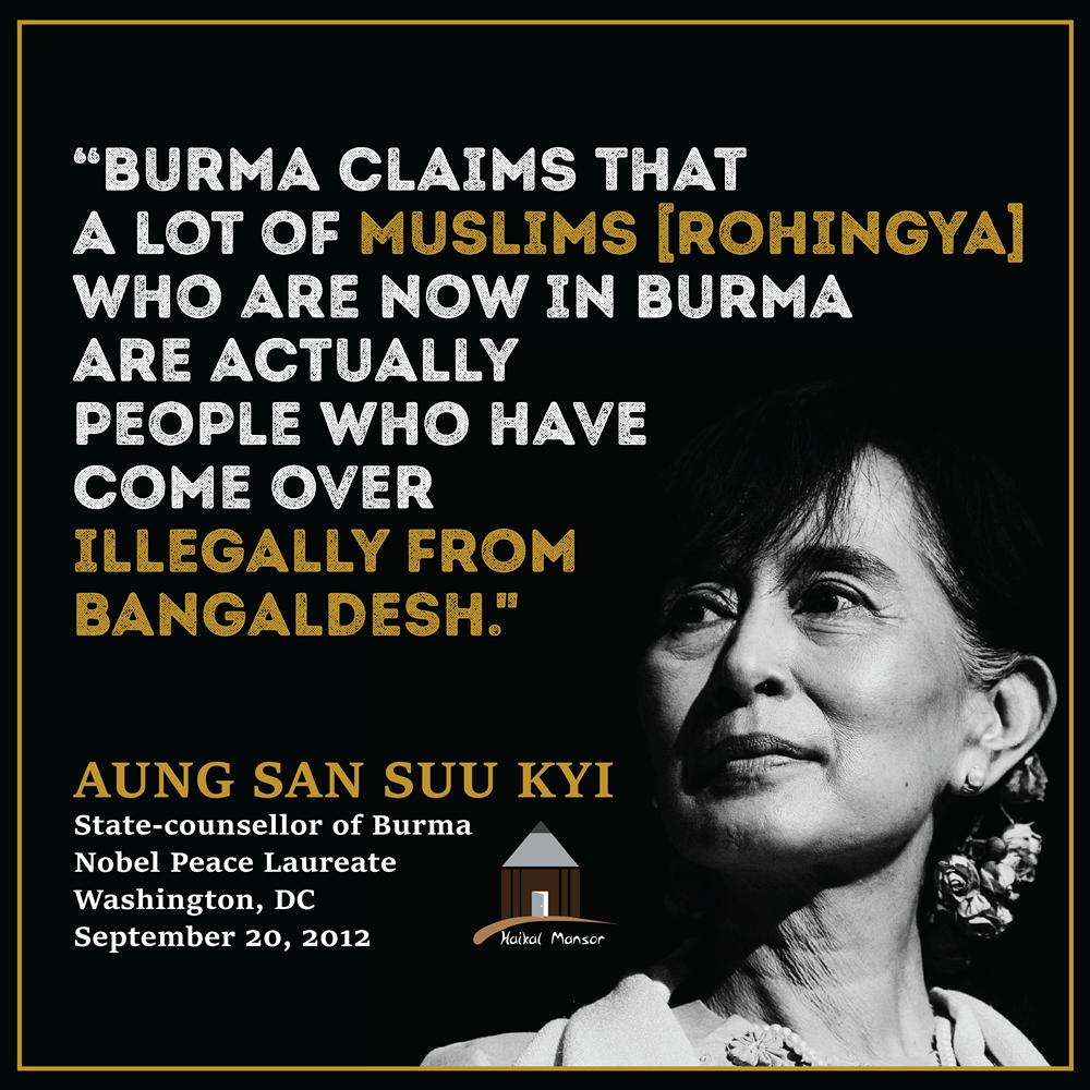 Aung San Suu Kyi – 'Illegal from Bangladesh'