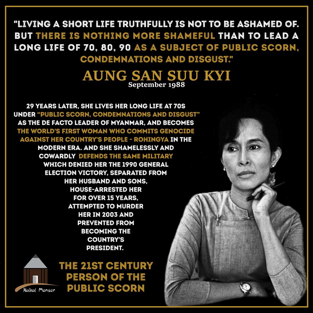 Aung San Suu Kyi – 'Shameful'