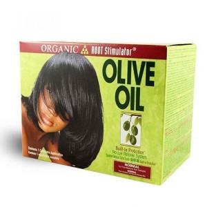 olive oil hair relaxer kit