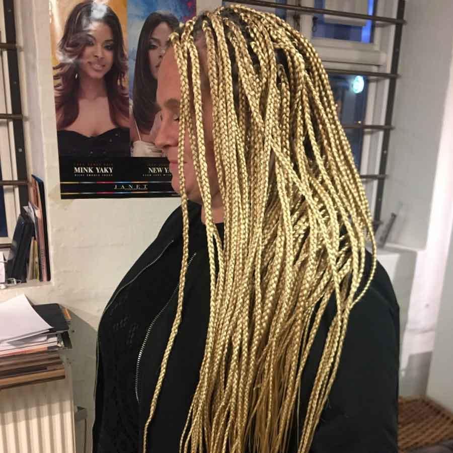 lange blonde fletninger