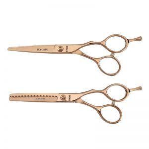 Kyone 680 Rose Gold Knipschaar en Coupeschaar Set