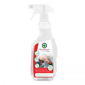 Oxyclean 70% alcohol ontsmetting voor handen & huid 500 ml met spray