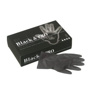Sibel Black & Pro Latex Handschoenen Poedervrij 20 stuks