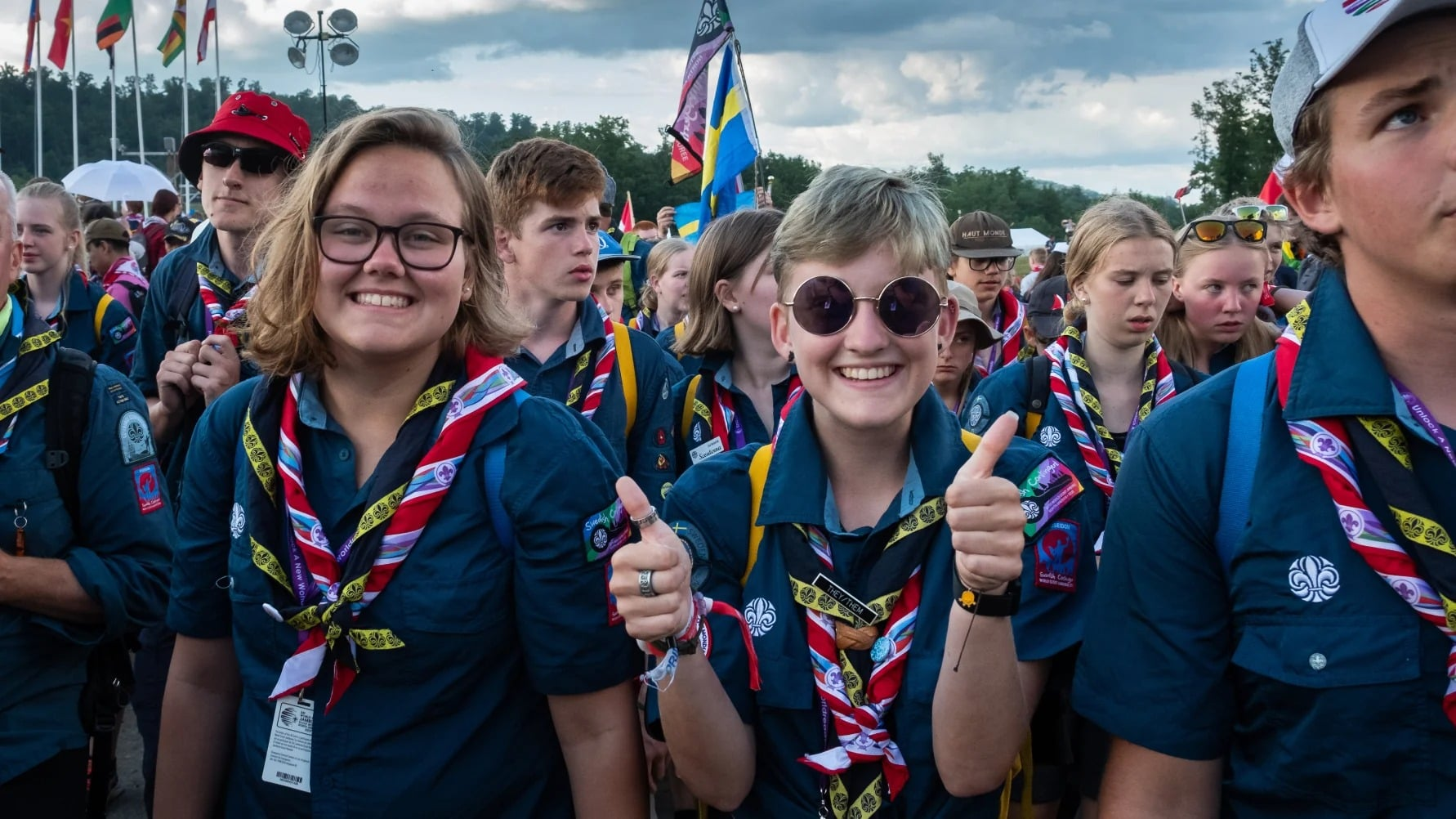 Svenska scouter på World Scout Jamboree i USA