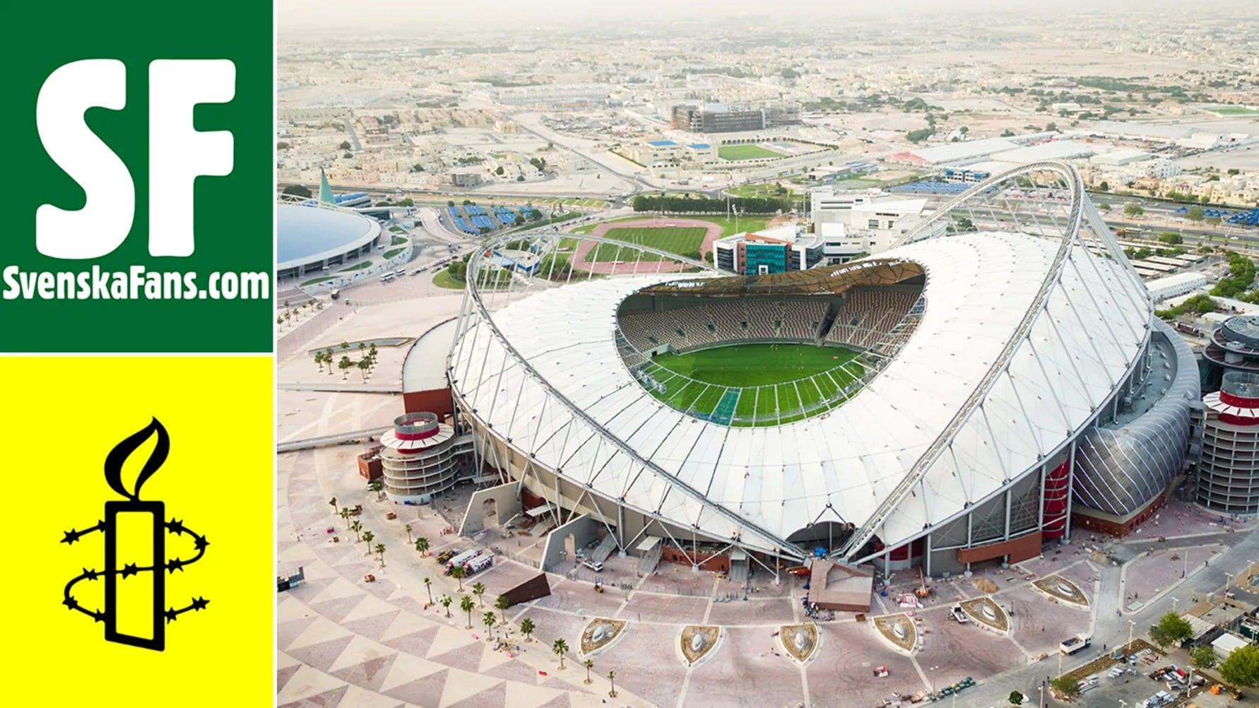 Svenskafans Amnesty Qatar 2022