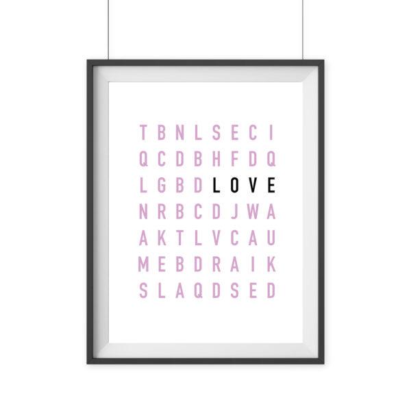 Poster modern Buchstaben lLove Geschenk