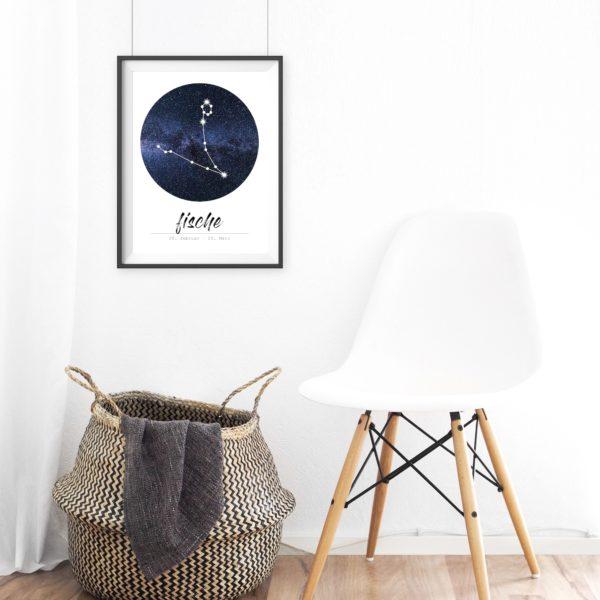 Sternzeichen Fische Geschenk Poster