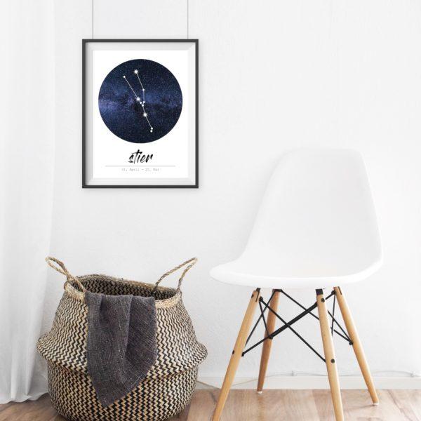 Sternzeichen Stier Poster Print Geschenk