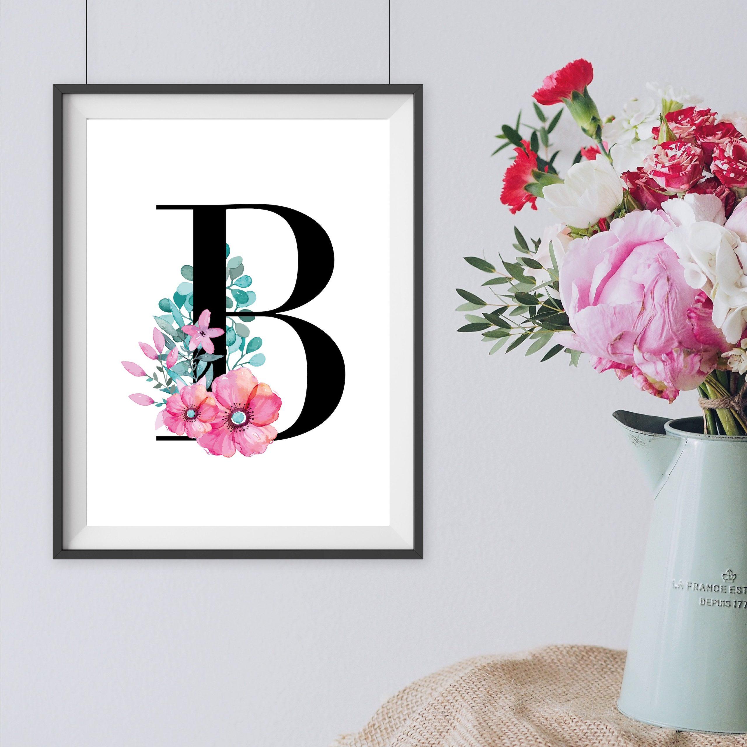 Geschenk Poster Print Buchstaben