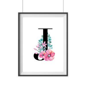 Geschenk Wanddekoration Print Blumen