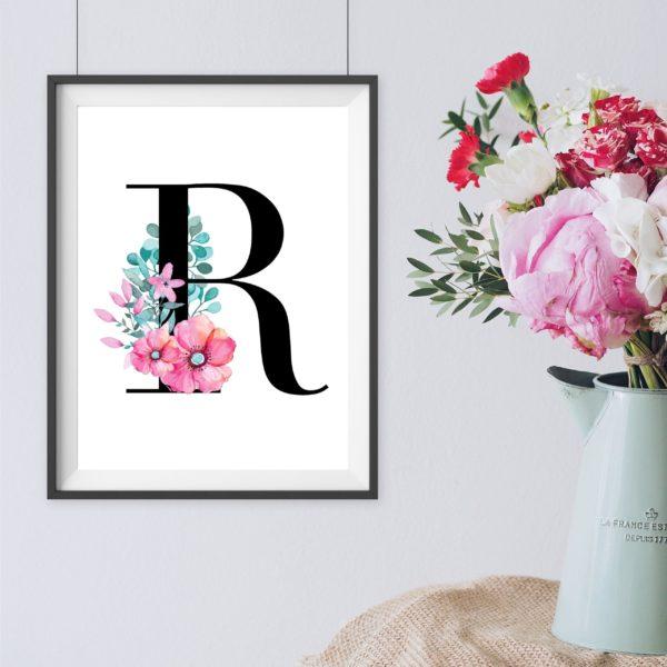 Bustabe R Geschenk Artprint