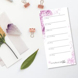 Mini Wochenplaner Geschenk Planung Kalender