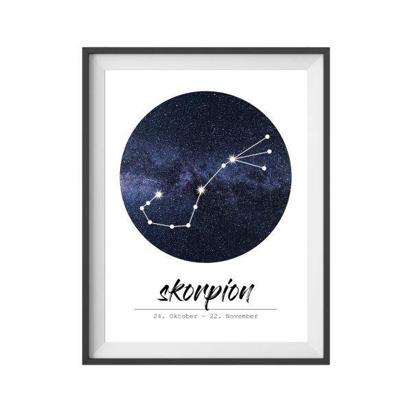 Poster Sternzeichen Skorpion Geschenk Wohnzimmer