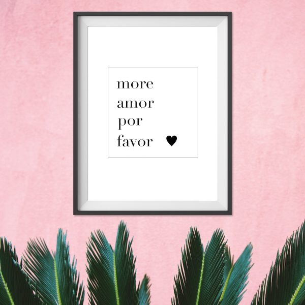 Poster More Amore Geschenk Liebe Print