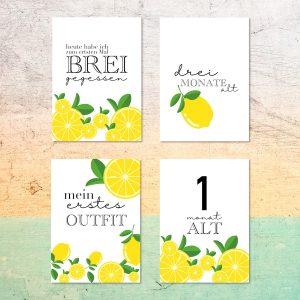 baby meilensteinharten Zitrone geschenk