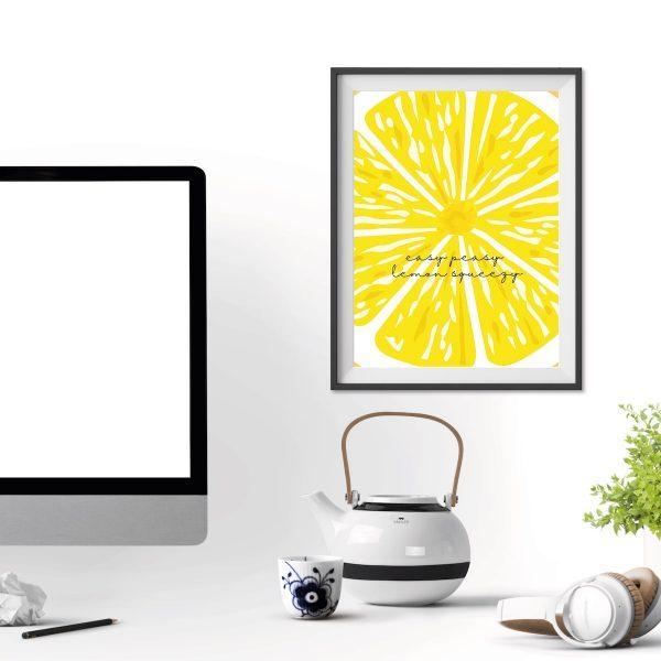 poster easy peasy lemon Geschenk Zitrone
