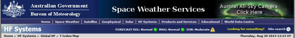 Austaliska regeringen Space Weather Services