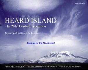 Hemsida Heard expedition 2016