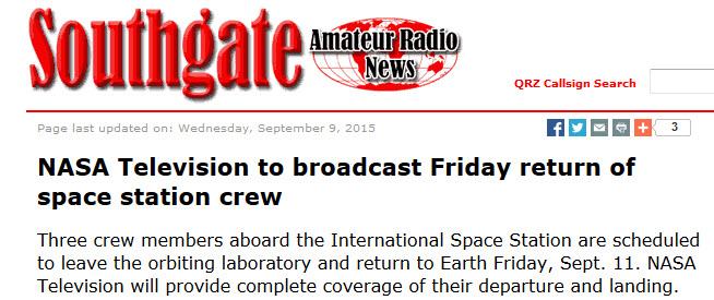 Astronauter återvänder