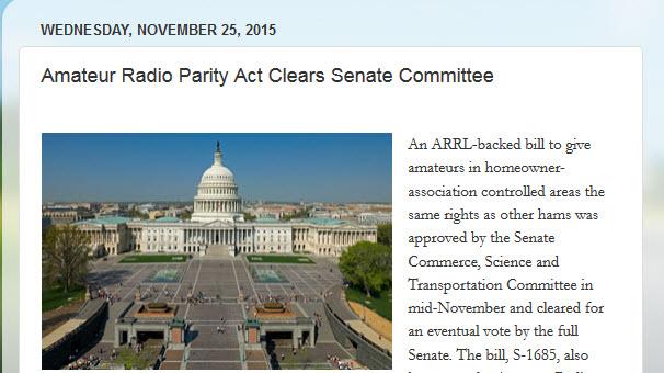 Amateur Radio Parity Act i senaten