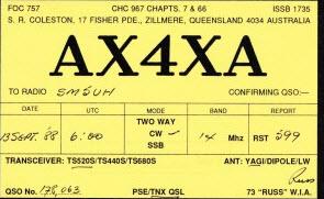 AX4XA till SM5UH