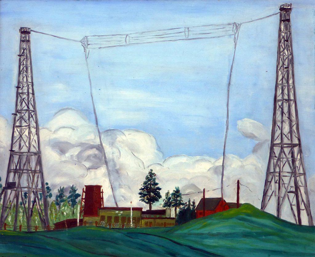 målning motala radiostation 1930
