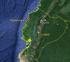 Karta Pedernales- Google Earth