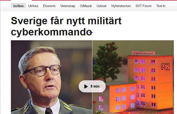 Sverige får cyberkommando