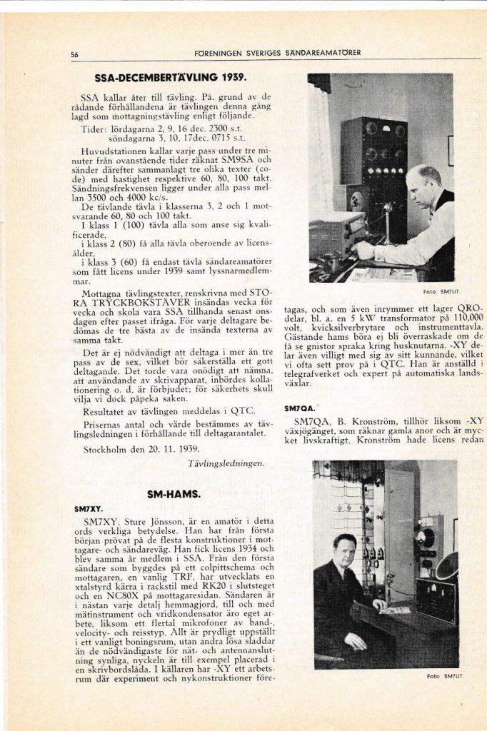 SM7XY QTC nr 7 1939