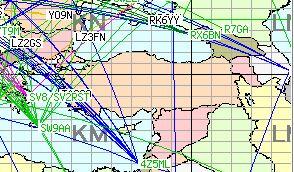 DX Maps all bands Turkiet 2016-07-30