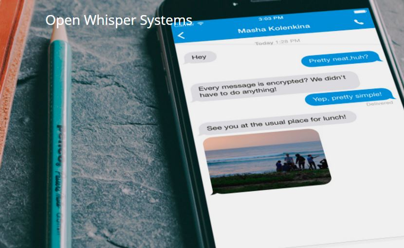 Skärmklipp Whisper Systems