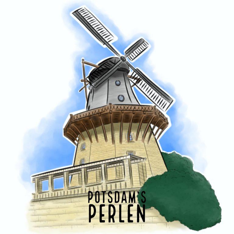 Teaserbild Historische Mühle Potsdam's Perlen Illustration handundstift.de - Der Blog rund um Illustration in Serie