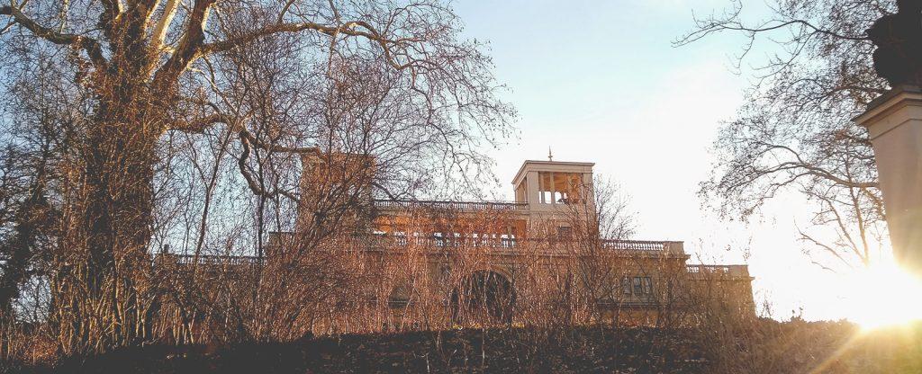 Beitragsbild Sonnenuntergang Orangerie Potsdam handundstift.de Blog zum Thema Illustration in Serie