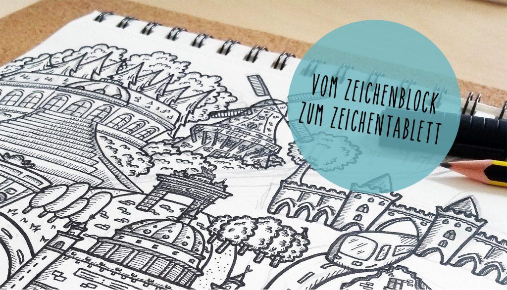Beitragsbild Skizzenbuch Vom Zeichenblock zum Zeichenbrett handundstift.de - Der Blog rund um Illustration in Serie