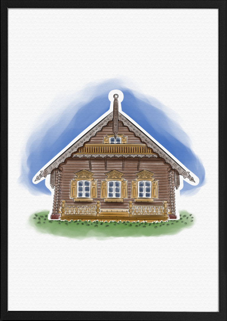 Alexandrowka Potsdam Illustration Farbe | handundstift.de | Der Blog rund um Illustration in Serie