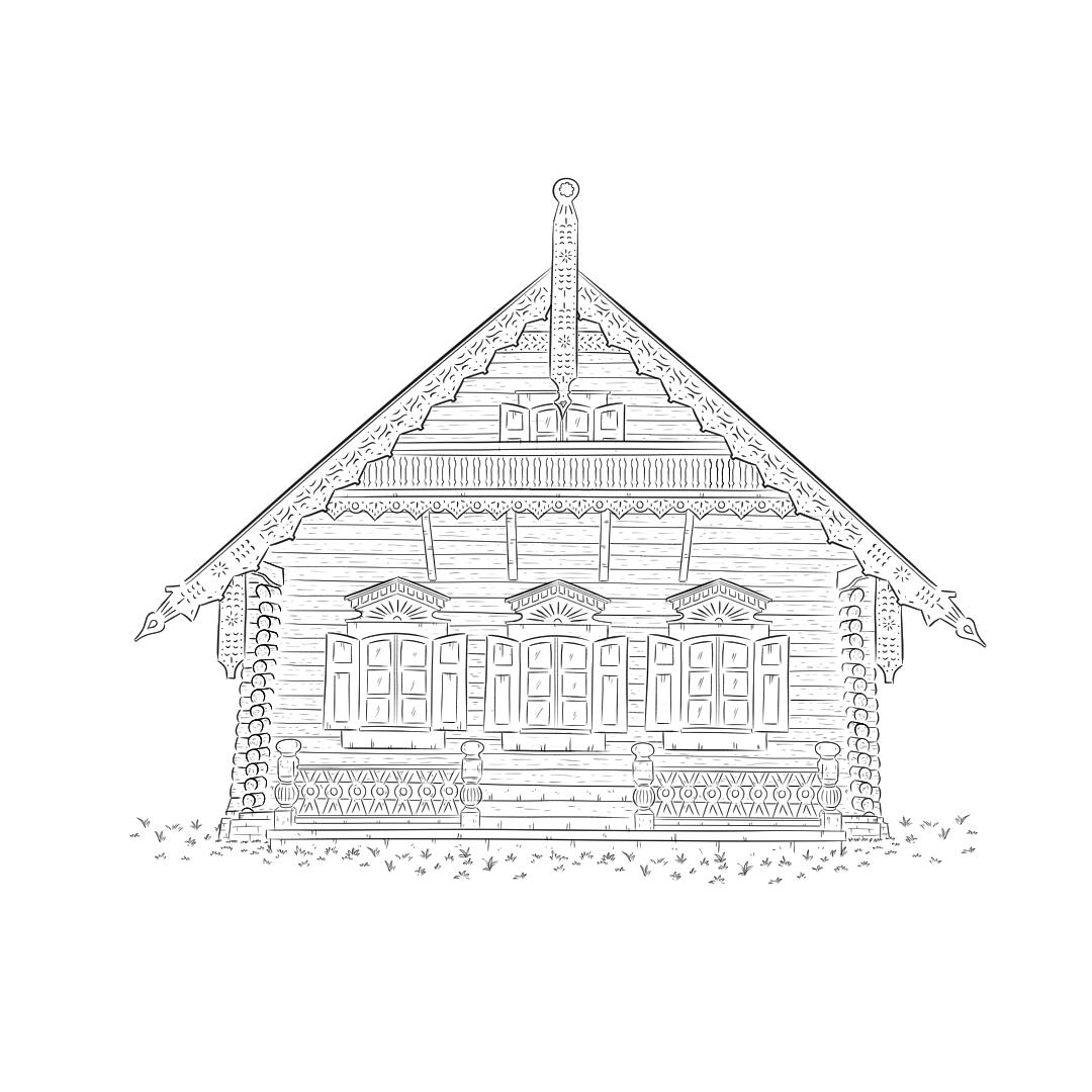 Beitragsbild Skizze Schwarz-Weiß Alexandrowka Potsdam handundstift.de - Der Blog rund um Illustration in Serie