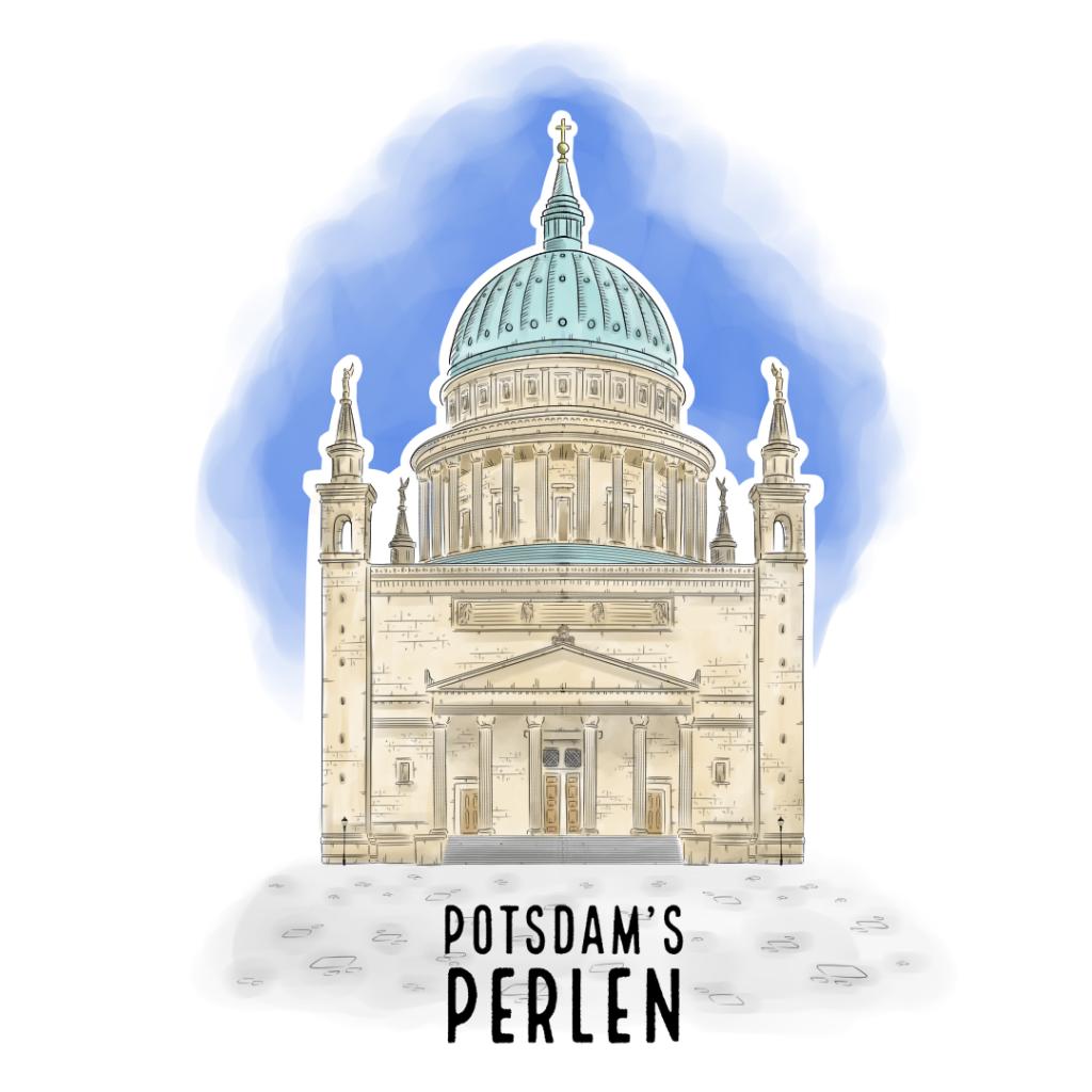 Teaserbild St. Nikolaikirche Potsdam's Perlen Illustration handundstift.de - Der Blog rund um Illustration in Serie