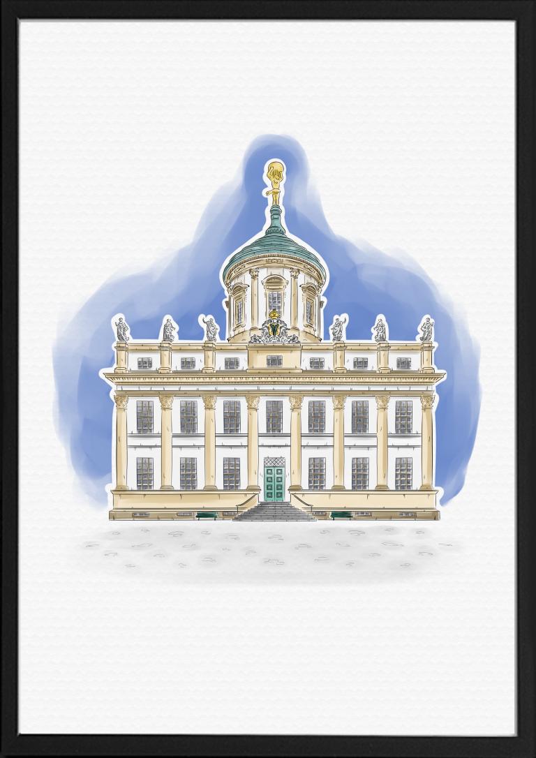 Potsdam Meseum Illustration Farbe | handundstift.de | Der Blog rund um Illustration in Serie