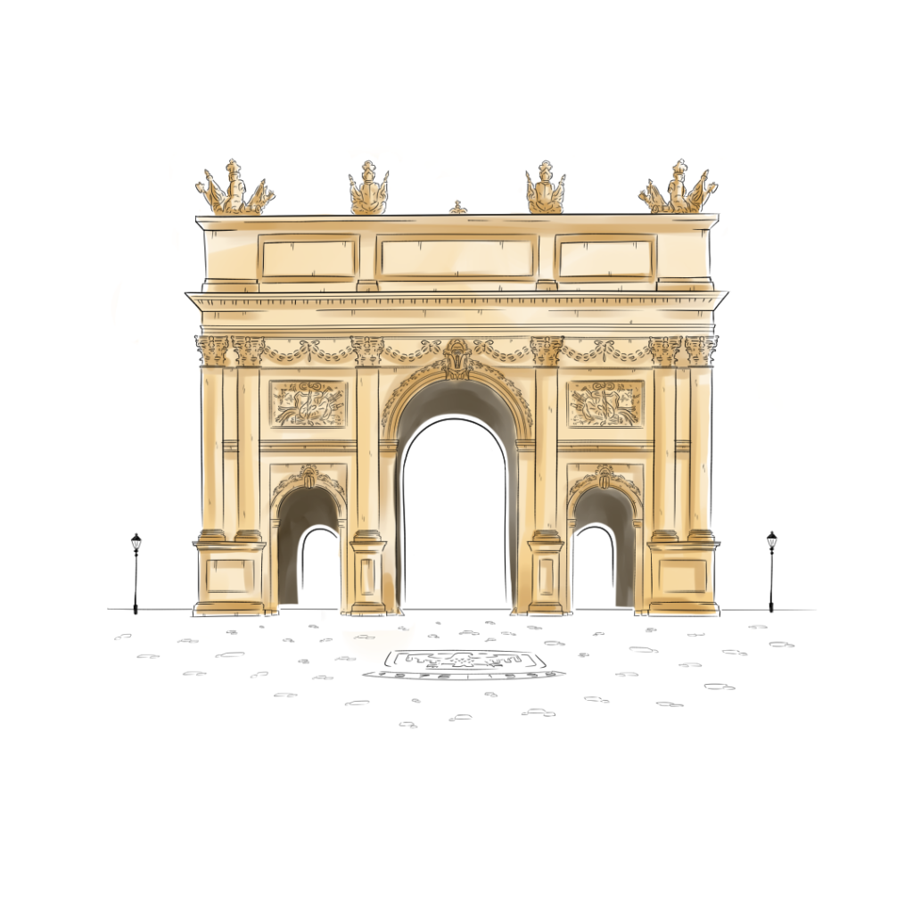 Beitragsbild Farbgebung Brandenburger Tor Potsdam handundstift.de - Der Blog rund um Illustration in Serie