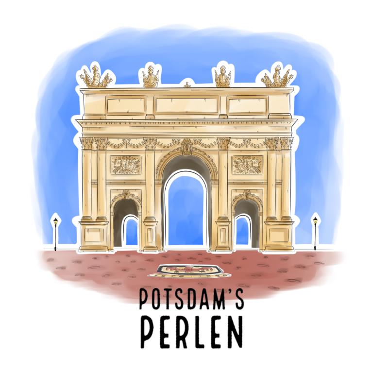 Illustrationsserie Potsdam's Perlen Brandenburger Tor | handundstift.de - Der Blog rund um Illustration in Serie