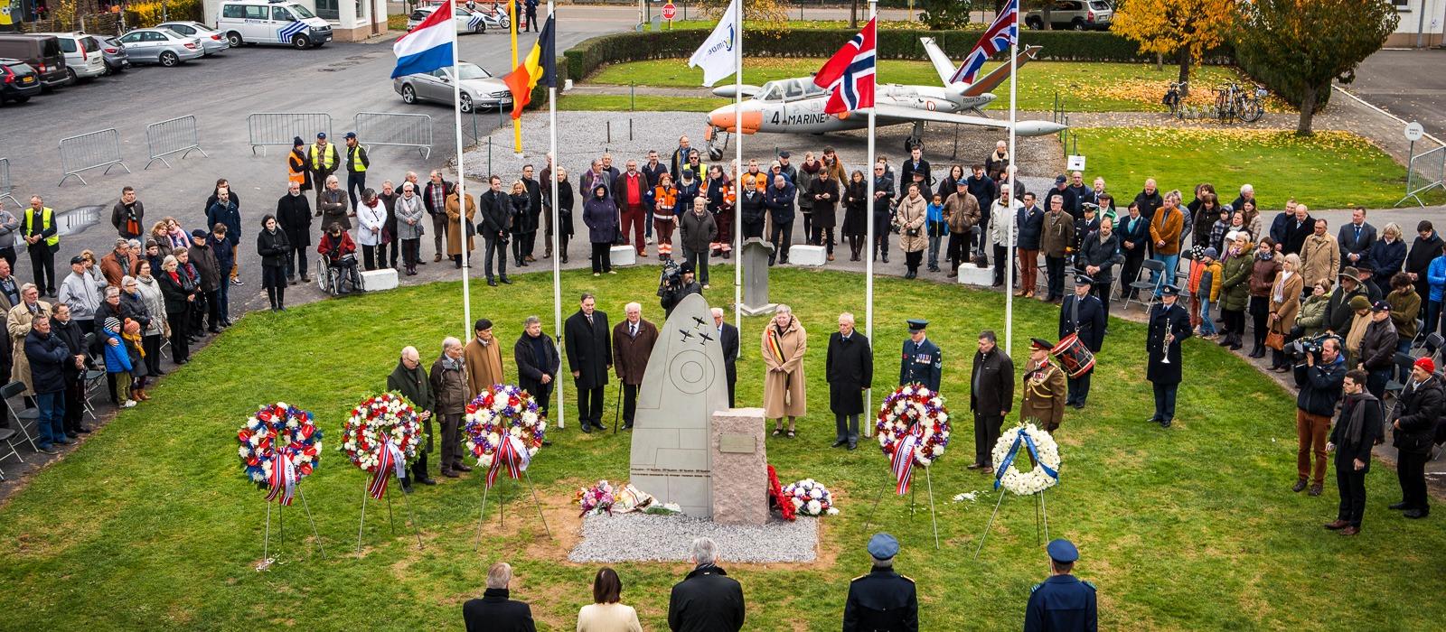 Inhuldiging Noors monument in Grimbergen.