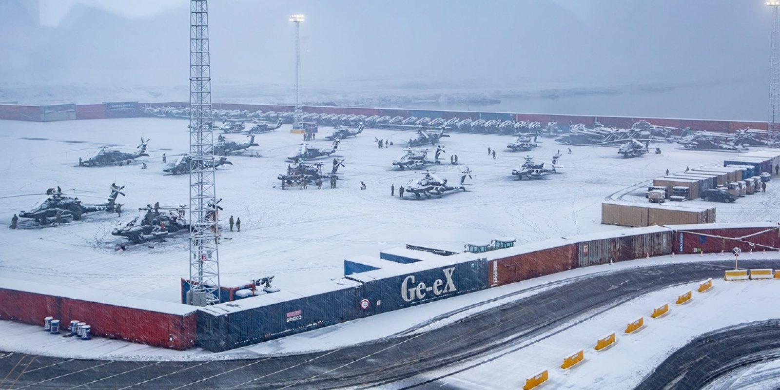 ZEEBRUGGE - Amerikaanse Landmacht komt aan in Zeebrugge voor Atlantic Resolve. (Foto Tom - www.fototom.be)
