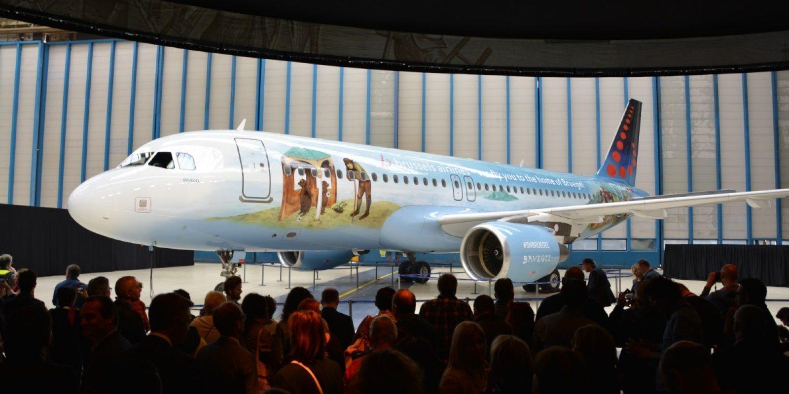 Met trots stelde Brussels Airlines de Bruegel Icon voor, een kunstwerk dat gecreëerd werd in samenwerking met Toerisme Vlaanderen en Bozar.