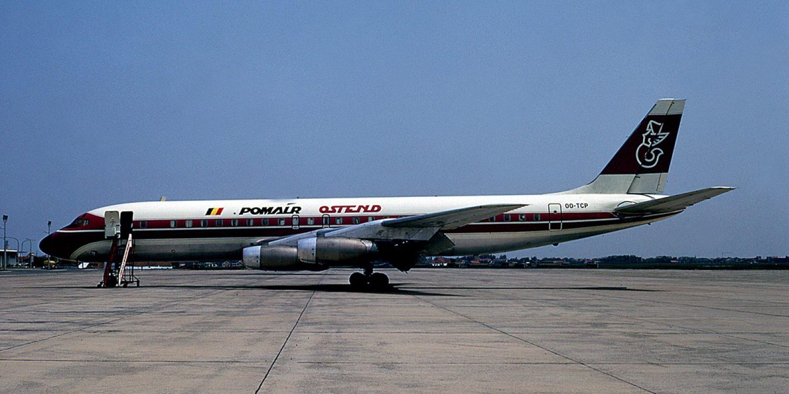 L'événement historique est l'arrivée à Ostende du premier jet intercontinental de Pomair en mai 1971. Immatriculé (en référence à Transports Charles Pommé) OO-TCP, le Douglas DC-8-33 (msn 45265) a été acquis auprès de la Pan American (ex N812PA) via la Boreas Corporation.